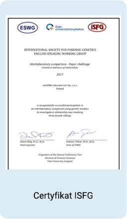 Certyfikat ISFG